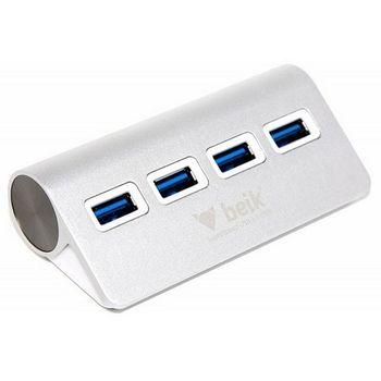 Beik čtyřportový USB 3.0 rozbočovač/HUB, hliníkový