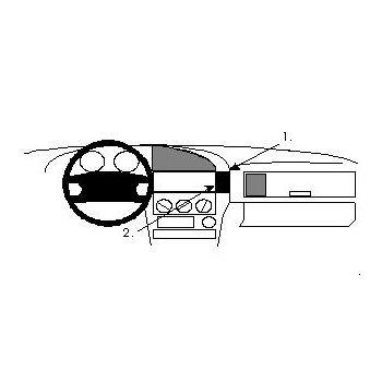 Brodit ProClip montážní konzole pro BMW 316-328 E36 91-98, montáž vpravo od radia