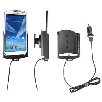 Brodit držák do auta na Samsung Galaxy Note II bez pouzdra, s nabíjením z cig. zapalovače/USB