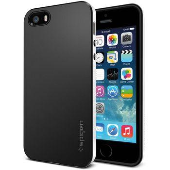 Spigen pouzdro Neo Hybrid metal slate pro Apple 5/5S, bílo-černá