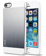 Spigen pouzdro Saturn Satin silver pro iPhone 5/5S, bílo-stříbrná