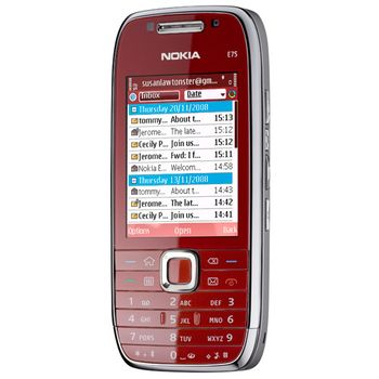 NOKIA E75 Red 4GB, bazar, záruka
