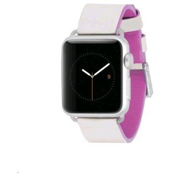 Case Mate výměnný řemínek Edged pro Apple Watch 38mm, růžový