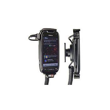 Brodit držák do auta na Nokia C7 bez pouzdra, s nabíjením z cig. zapalovače