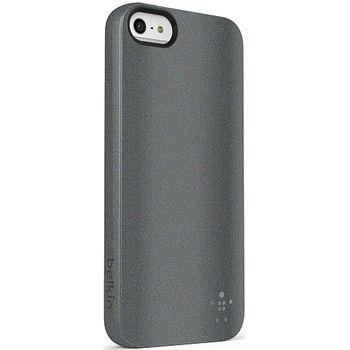 Belkin pouzdro Grip Vue Metallic pro Apple iPhone 5 - titanová metalíza (F8W126vfC00)