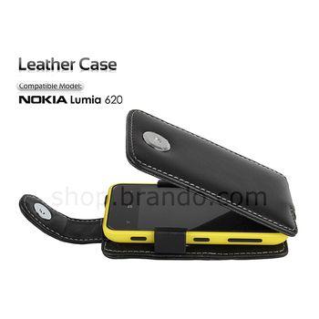 Pouzdro kožené Brando Flip Top - Nokia Lumia 620