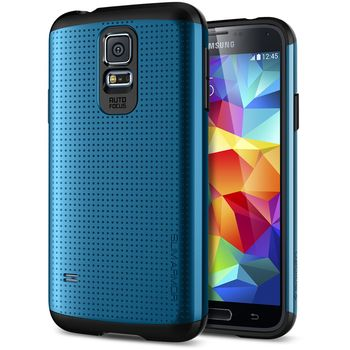 Spigen pevné pouzdro Slim Armor Electric blue pro Samsung Galaxy S5, modrá
