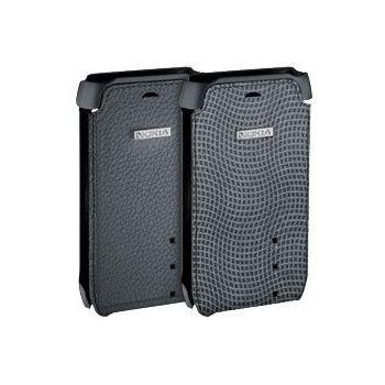 Nokia CP-500 kožené pouzdro pro Nokia N8 černo-šedé