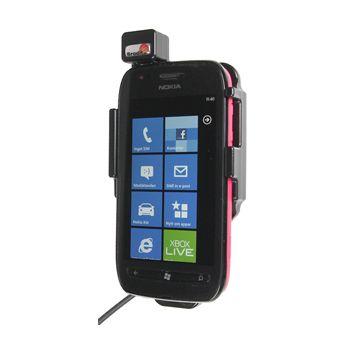 Brodit držák do auta pro Nokia Lumia 710 se skrytým nabíjením v palubní desce