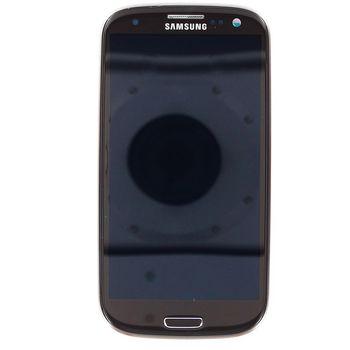 Náhradní díl LCD displej + dotyk + přední kryt pro Samsung i9300 Galaxy S III, hnědý