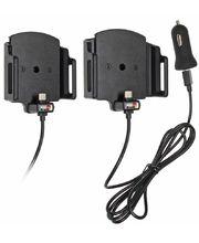 Brodit držák do auta nastavitelný s USB-C a nabíjením z cig. zapalovače/USB š. 62-77 mm, tl. 9-13