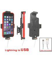 Brodit držák do auta na Apple iPhone 6/6S v pouzdru, s pružinou, s průchodkou pro Lightning kabel