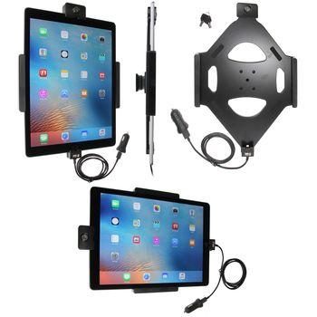 Brodit držák do auta na Apple iPad Pro bez pouzdra, s nabíjením z cig. zapalovače/USB, se zámkem