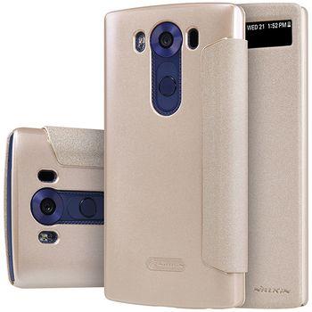 Nillkin flipové pouzdro Sparkle S-View pro LG V10, zlaté